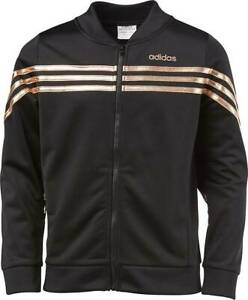 Details about NEW adidas Girls' Linear Tricot Jacket S XL AP4462 BlackCopper H67