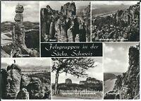 Ansichtskarte Barbarine, Mönch, Basteifelsen, Falkenstein, Schrammsteine - s/w