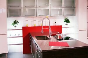 Custom Made Kitchen Frosted Glass Cabinet Cupboard Door Aluminum