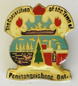 The-Corporation-Of-The-Town-Of-Penetanguishene-Souvenir-Pin-Badge-Brooch-C1
