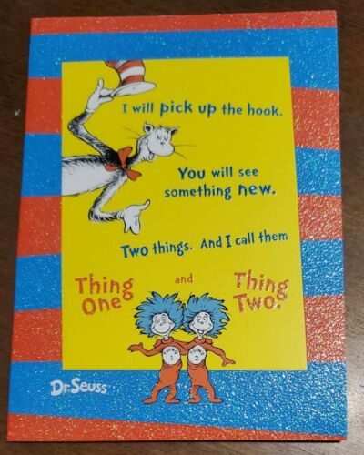 Seuss Thing One and Thing Two blank note card Cat in the Hat Details about  /Dr Graphique