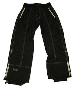 Trinity Snowboard Pantalones Negro Destino Para Hombre Talla Pequeña Con Cinturón De Nylon Nieve Esquí Ebay