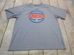 b4baf1fa3 NICE Adidas Climalite New York Knicks NBA Grey Short Sleeve T-Shirt ...