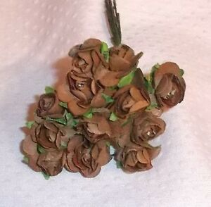 VINTAGE Parchment TINY roses cluster DOLL CLOTHES Alexander /& Ginny pastel PEACH