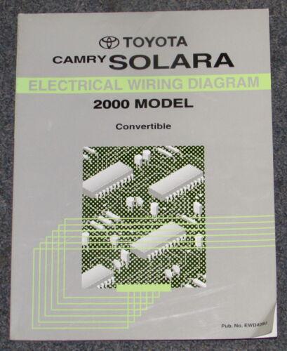 2000 Toyota Camry Solara Convertible Electrical Wiring Diagram Service Manual