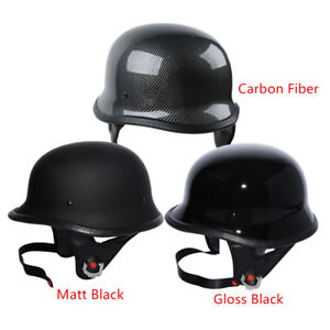DOT-Motor-German-Half-Face-Helmet-Fit-For-Harley-Chopper-Cruiser-Biker-M-L-XL