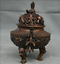8-8-034-Marked-Old-China-Qing-Red-Copper-Dynasty-Dragon-Beast-Incense-Burner-Censer thumbnail 7