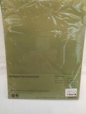 Curious Transluscents Paper Arjowiggins 8 12 X 11 Color Kiwi Iridescent 70