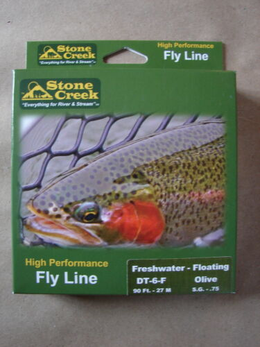 Stone Creek High Preformance DT-6-F Floating Olive Fly Line 90 ft Double Taper