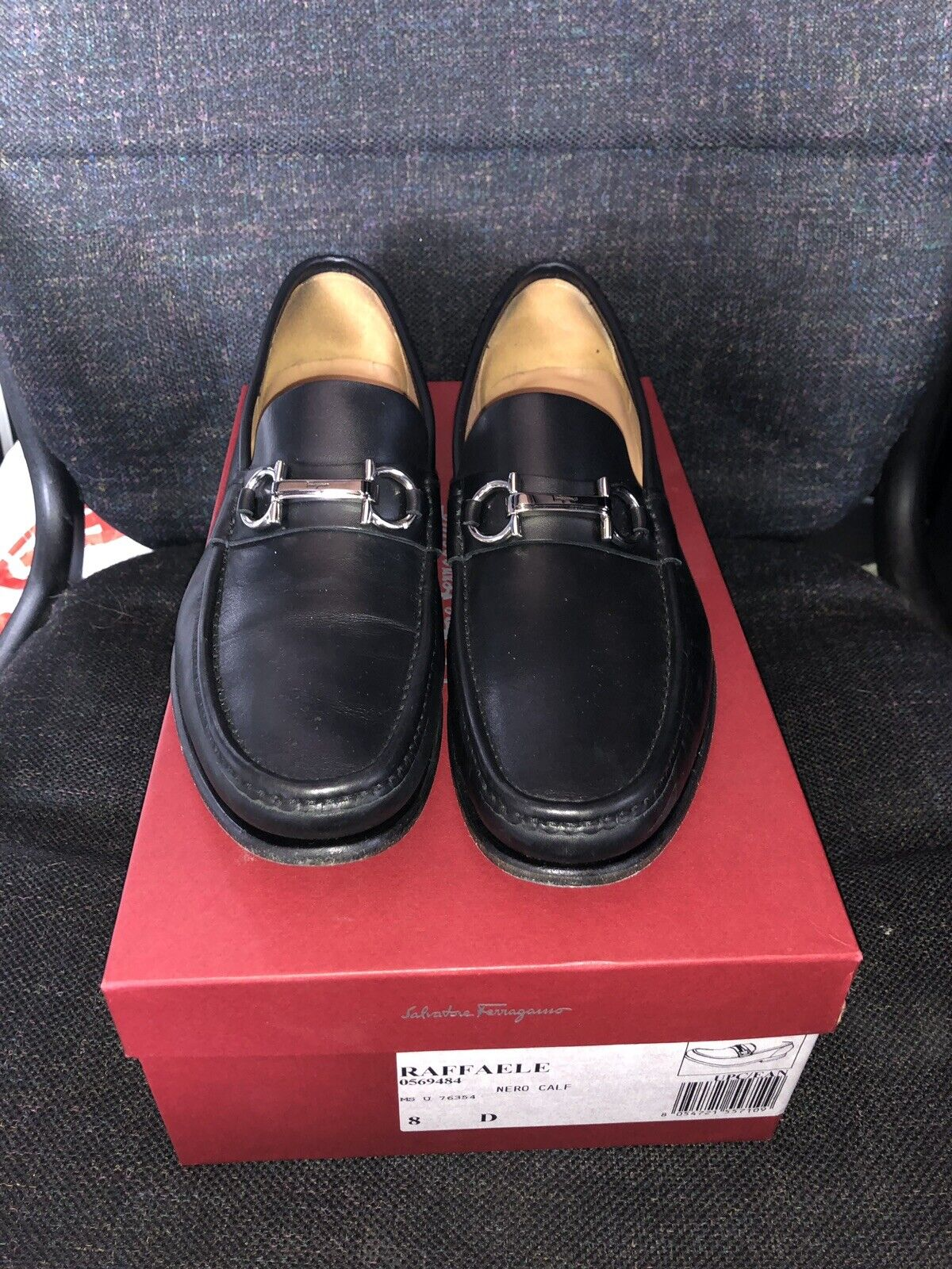 Salvatore  ferragamo Raffaele nero Leather Lofer Dimensione US 8 D  alta quaità