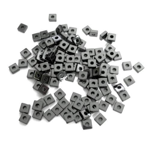 100 METALLPERLEN HÄMATIT MINI QUADRATE 2,8x1mm Spacer Perlen nenad-design AN746