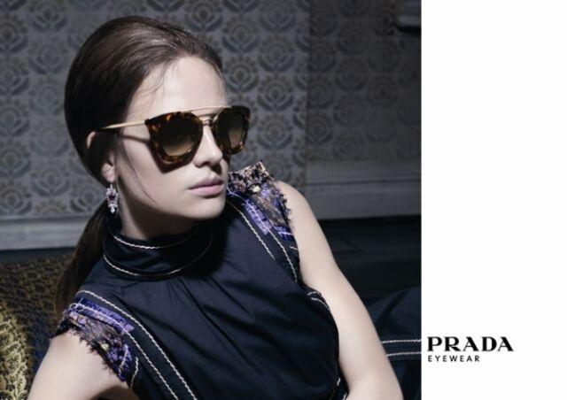 $550 Catwalk PRADA Ladies CINEMA Collection Sunglasses SPR 09Q 2AU 6S1 PR 09QS
