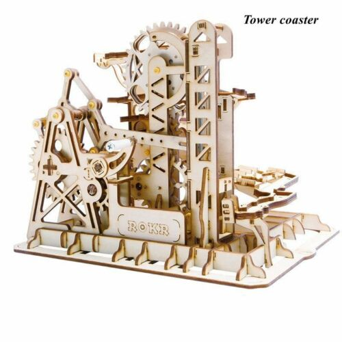 Model Mechanical Wooden Building 3D Puzzle Kit DIY Drive Kits Assembly Gear Toy