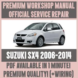 workshop manual service repair guide for suzuki sx4 2006 2014