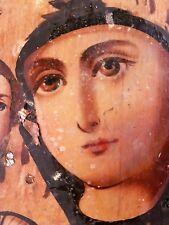 Alte Russland antike Ikone Maria  Gottesmutter Jesus Madonna Icono Icon Icone