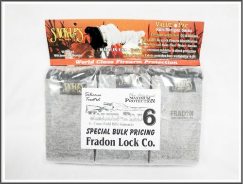 Sack-Ups Rifle Shotgun Sack Ups Value Pack 6 New Bulk Protect Sleeve Cover New