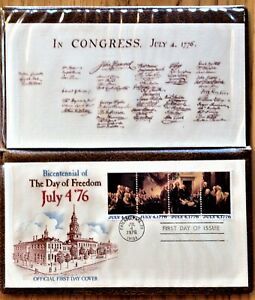 BICENTENNIAL-JULY-4-039-76-Official-FIRST-DAY-COVER-w-FOLDER-16-Page-Pamphlet