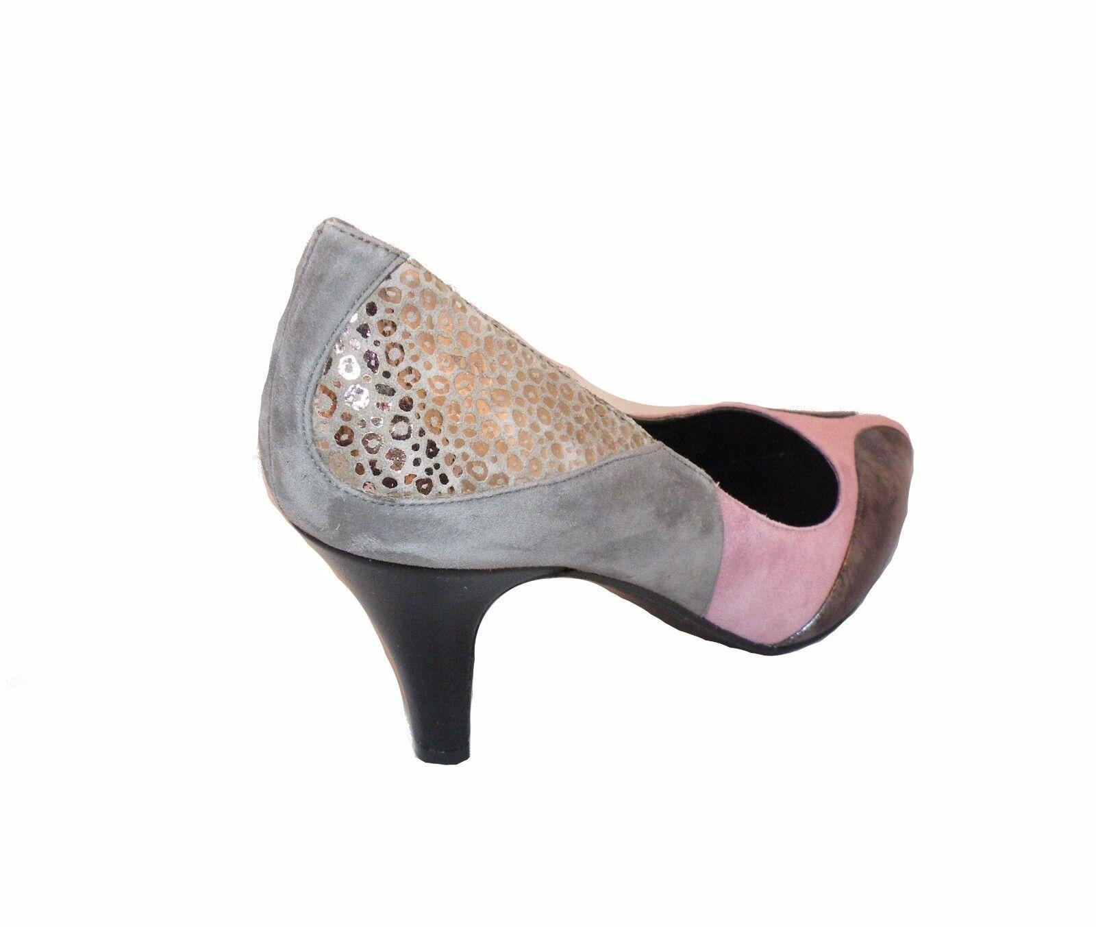 Heine Pumps Leder grau rose silber 37 metallic Damenschuhe Gr.  37 silber 38 40 41 42 43 882b2f