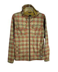 Burton-Mens-Hooded-Snowboard-Jacket-Vintage-Plaid-Sz-M-Bonded-Hoodie