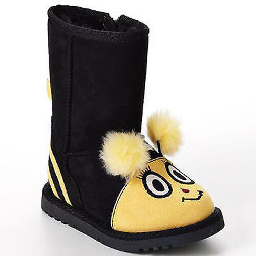 NIB NEW JUMPING BEANS BUMBLE BEE halloween winter dress up girl boots 5 Toddler