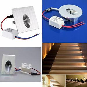 1W-LED-Encastrable-Mural-Lampe-Escalier-Couloir-Spot-corridor-Eclairage-220V