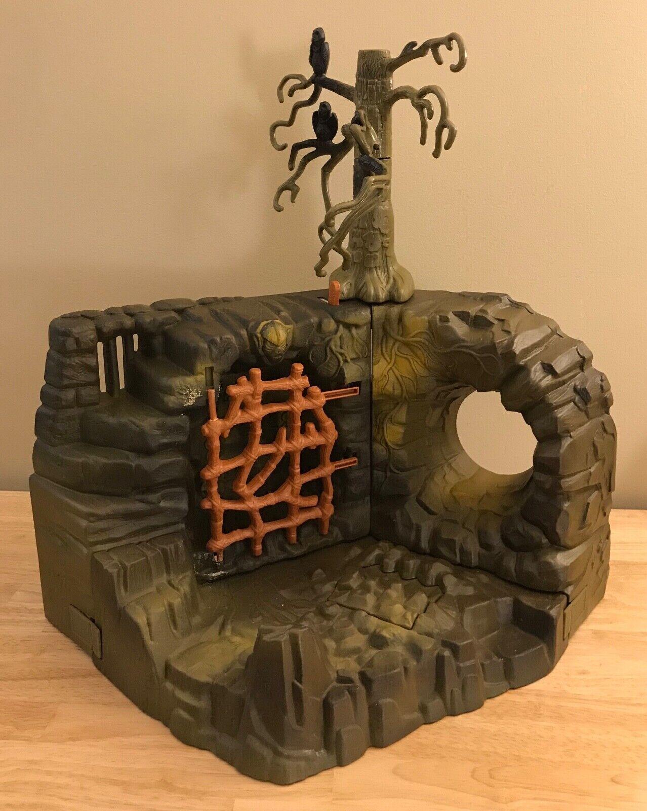 Vintage He-Man FRIGHT ZONE Playset - MOTU Halloween Scary Evil Lot w  Tree -