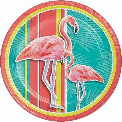 Island Oasis16 Ct Beverage Napkins Summer Pool Party Flamingos
