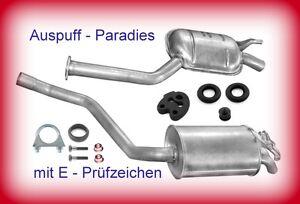 Abgasanlage Auspuffanlage Mercedes Benz 190 Turbo-D 2.5 (201.128) Typ W201 + Kit