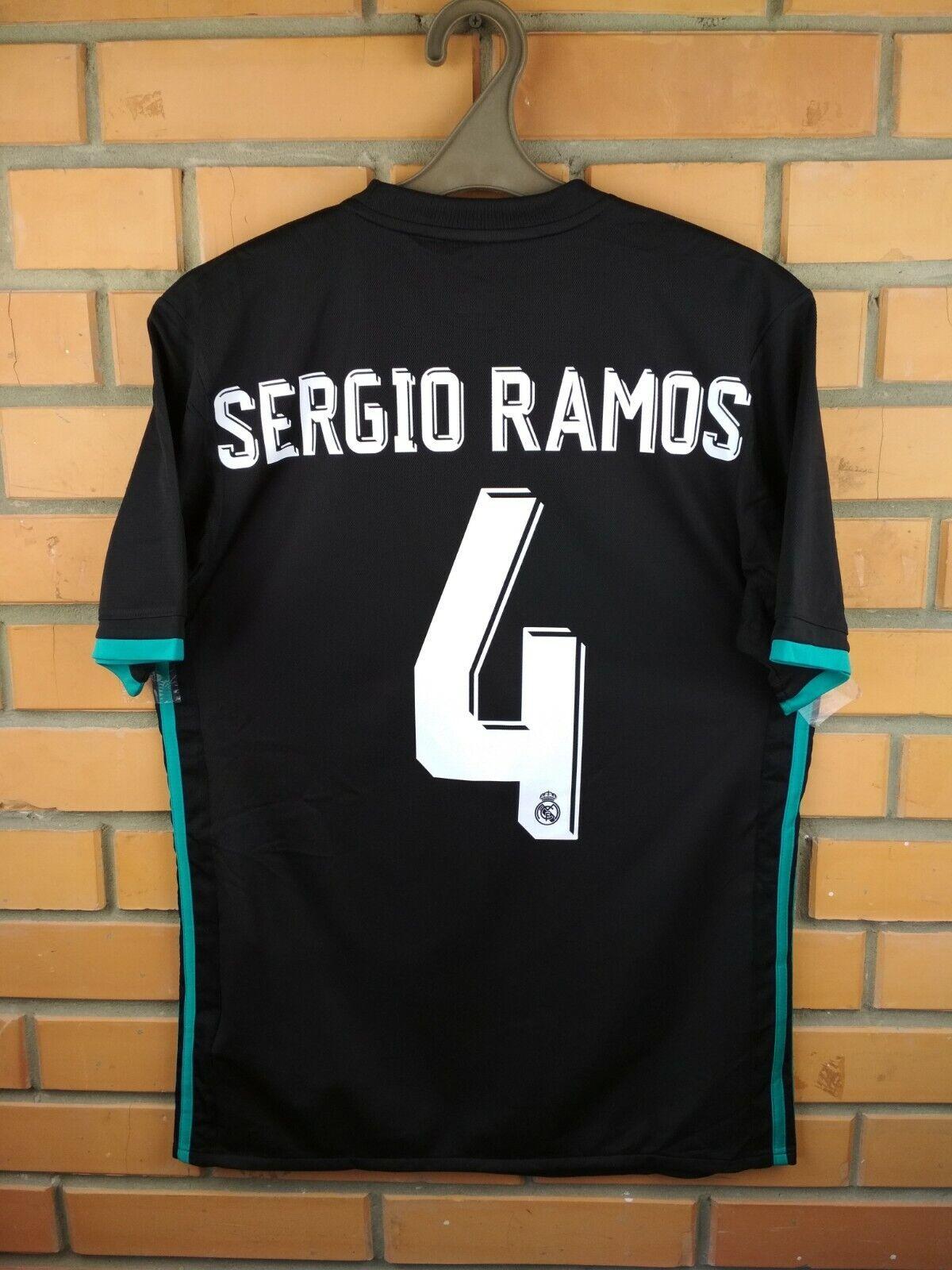 Sergio Ramos Real Madrid jersey small 2017 2018 away shirt BR3543 soccer Adidas