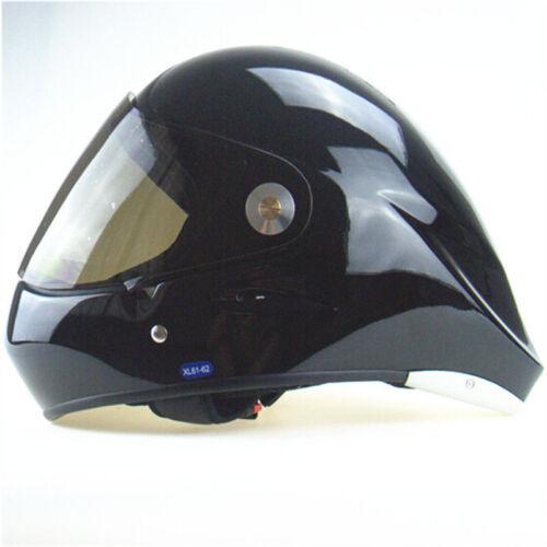 White Paragliding helmet with smoke glass visor full face Long board Helmet