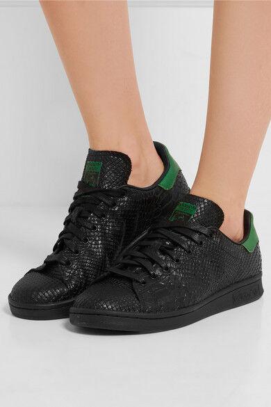 Nuevas Adidas Originals Stan Smith Negro Serpiente Efecto entrenadores UK6 Para Damas/Mujeres'S