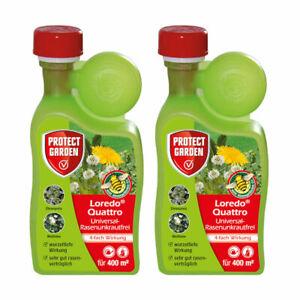 Protect-Garden-2x-400-ml-Loredo-Quattro-Universal-Rasenunkrautfrei-Rasen-Unkraut
