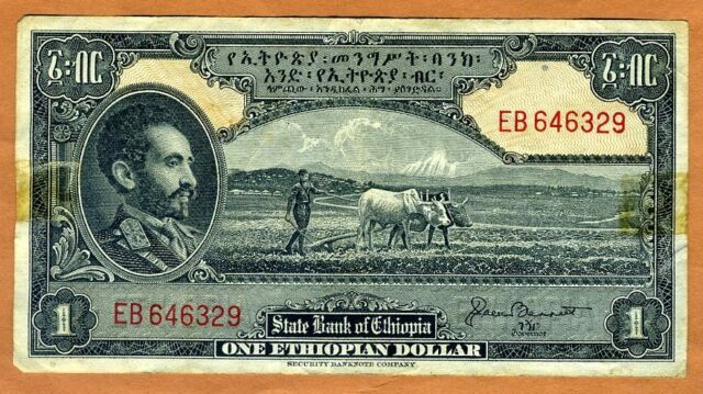 Ethiopia 1 Dollar Nd 1945 For