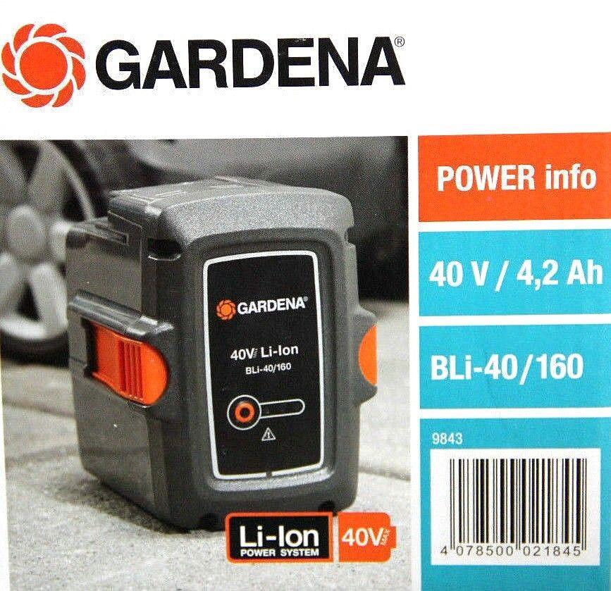 GARDENA System-Akku BLi-40 160   40V   4,2Ah Li-Ion 09843 neu