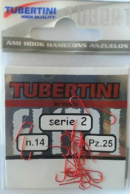 Tubertini Series 2 Rosso//Red Micro Barbed Fishing Hooks All Sizes Coarse Match