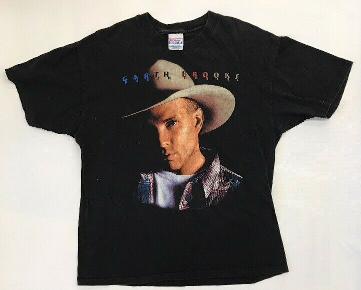 Worn Men's Garth Brooks Fresh Horses Concert Tour Shirt Size XL