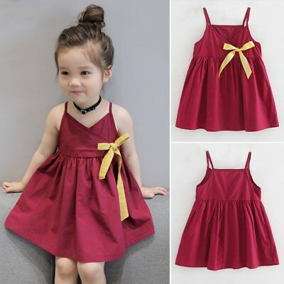 US Toddler Baby Girl Sleeveless Tutu Dress Party Cute Princess Dresses Sundress
