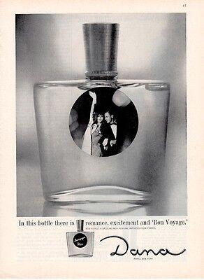 1961 DANA PRINT AD Bon Voyage Perfume
