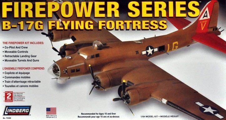 LINDBERG 1 64 64 64 KIT DI MONTAGGIO AEREO FIREPOWER SERIES B-17G FLYING  75309 3cb4e3