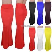 New Ladies Womens Gypsy Long Jersey Maxi Dress Skirt Ladies Skirt Size
