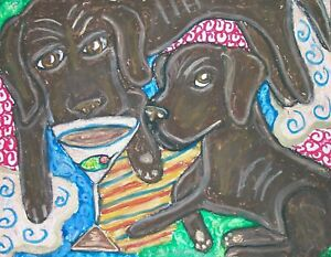 Labrador-Retriever-Pop-Art-Print-8x10-Signed-Dog-Collectible-Chocolate-Martini