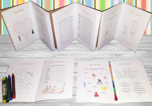 Personalised Childrens Wedding Activity Pack Book Favour Cute Sheep AB181