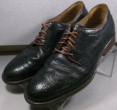 201355 PF50 Men's Shoe Size 10 M Black Leather Lace Up Johnston & Murphy