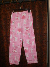 Cutie Patootie, girl's pink flannel with kitties, long lounge/sleep pants,sz 14