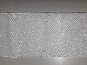 8661) Metri 3 circa Passamaneria pizzo merletto a retina bianco alta cm 10 circa
