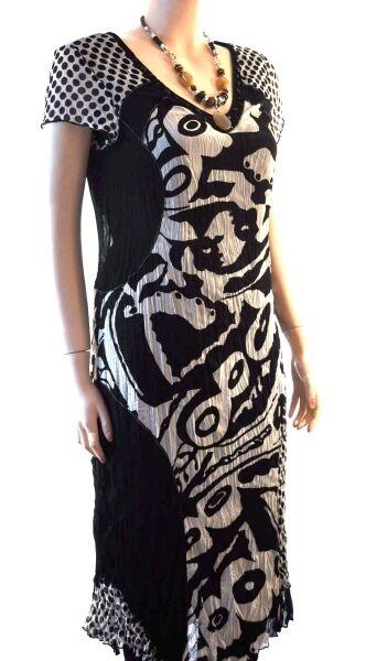 Traumhaft Biba Kleid Fashion Dots schwarz  Weiß Neu Gr.38