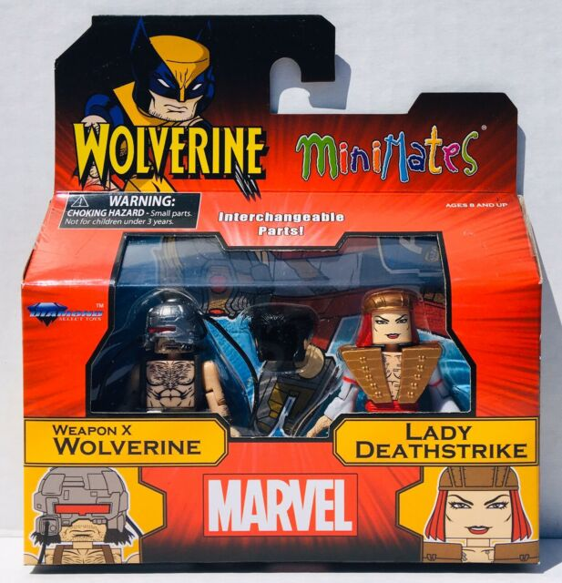 Marvel Minimates Series 72 Weapon X Wolverine /& Lady Deathstrike