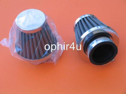 2x 48mm Air Filters Pods Chrome HONDA CB350 CL350 CB450 CL450 CB400 CB500T CM400