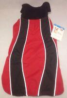 Reflective Dog Coat Sport Jacket Size S M Red Black Fleece Petco Insulation