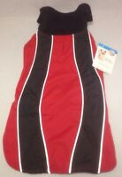Reflective Dog Coat Sport Jacket Size M L Red Black Fleece Petco Insulation